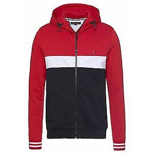 TOMMY HILFIGER Tepláková bunda tmavomodrá / červené / biela vyobraziť