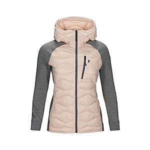 PEAK PERFORMANCE Outdoorová bunda 'WHELIHYBH J' sivá / ružová vyobraziť