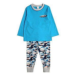 SANETTA Pyžamo 'Pyjama long' tyrkysová vyobraziť