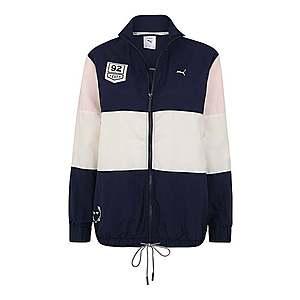 PUMA Športová bunda tmavomodrá / ružová vyobraziť