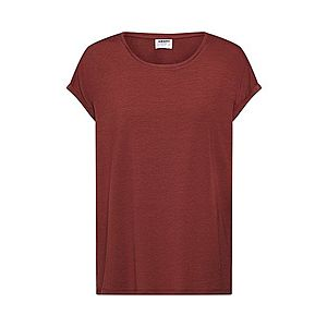VERO MODA Tričko 'AVA PLAIN' vínovo červená vyobraziť
