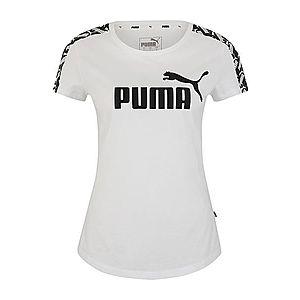 PUMA Tričko 'Amplified Tee' čierna / biela vyobraziť