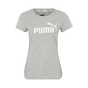 PUMA Tričko 'Amplified Tee' svetlosivá / biela vyobraziť