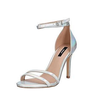 ONLY Remienkové sandále 'AILA ' strieborná vyobraziť