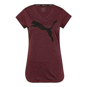 PUMA Funkčné tričko 'Heather Cat' čierna / vínovo červená vyobraziť