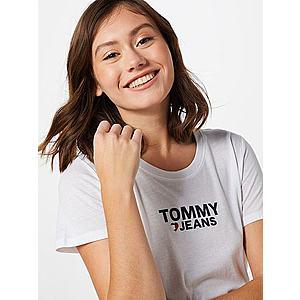 Tommy Jeans Tričko biela / čierna / červené vyobraziť