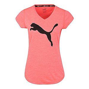PUMA Funkčné tričko 'Heather Cat' čierna / ružová vyobraziť