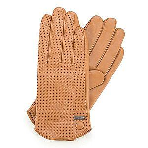 Dámske rukavice vo farbe camel. vyobraziť
