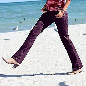 Džínsové nohavice, vyššia postava čierne ríbezle 36 vyobraziť
