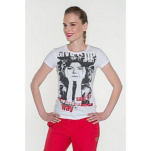 Dámske tričko s krátkym rukávom biela S vyobraziť
