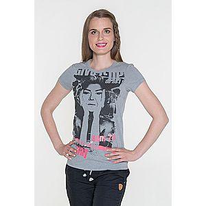 Dámske tričko s krátkym rukávom sivá svetlý melír M vyobraziť