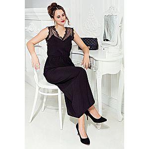 Dlhé šaty bez rukávov čierna S vyobraziť