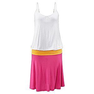 Plážové šaty, Beachtime biela/oranžová/ružová 34 vyobraziť
