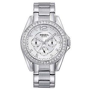 FOSSIL Analógové hodinky 'RILEY' strieborná / biela vyobraziť