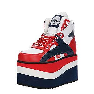 Buffalo London Nízke tenisky námornícka modrá / červené / biela vyobraziť