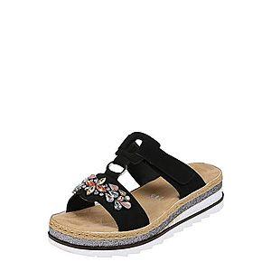 RIEKER Remienkové sandále čierna vyobraziť