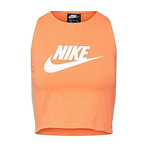 Nike Sportswear Top tyrkysová / oranžovo červená vyobraziť