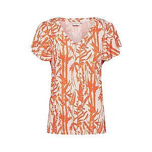 Cream Tričko 'Ninna' oranžová / biela vyobraziť