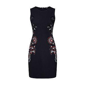 Desigual Puzdrové šaty 'VEST_DENIS' zmiešané farby / čierna vyobraziť