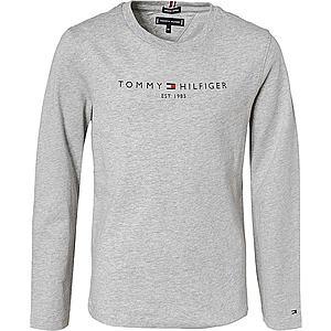 TOMMY HILFIGER Tričko námornícka modrá / sivá melírovaná / svetločervená / biela vyobraziť