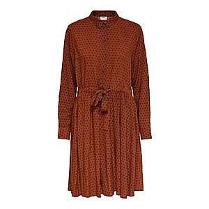 JACQUELINE De YONG Košeľové šaty svetlo béžová / tmavo červené vyobraziť
