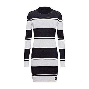 Calvin Klein Jeans Pletené šaty čierna / biela vyobraziť