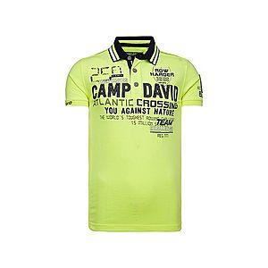 CAMP DAVID Tričko neónová žltá vyobraziť