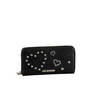 Love Moschino Peňaženka strieborná / čierna vyobraziť
