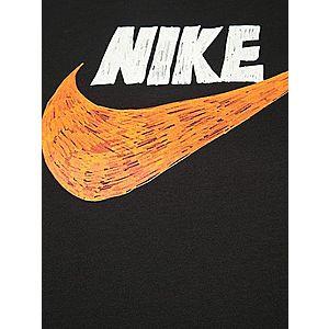 Nike Sportswear Tričko čierna / oranžová / biela vyobraziť