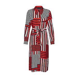 SELECTED FEMME Košeľové šaty 'Slfmyla-Florenta' oranžovo červená / čierna / biela vyobraziť