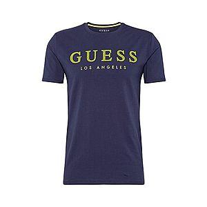 GUESS Tričko námornícka modrá vyobraziť