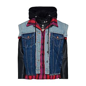 DIESEL Prechodná bunda 'L-MARALI JACKET' čierna / modrá denim vyobraziť