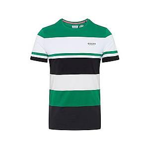 GUESS Tričko čierna / zelená / biela vyobraziť