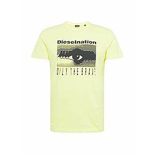 DIESEL Tričko 'DIEGO' žlté vyobraziť