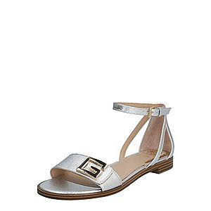 GUESS Remienkové sandále 'RASHIDA2/SANDALO' strieborná vyobraziť
