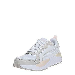 PUMA Nízke tenisky sivá / biela vyobraziť