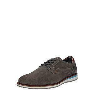 BULLBOXER Šnurovacie topánky sivá vyobraziť