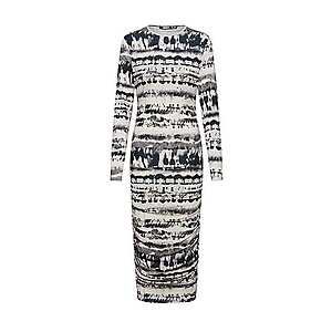 Missguided Šaty biela / čierna vyobraziť