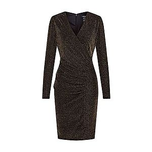 DKNY Večerné šaty zlatá / čierna vyobraziť