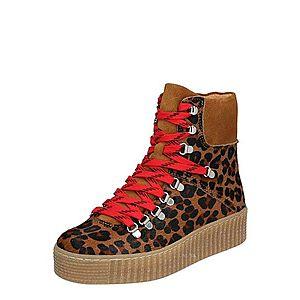 Shoe The Bear Šnurovacie členkové čižmy 'AGDA LEO' tmavohnedá / hnedé vyobraziť