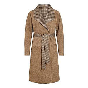 VILA Prechodný kabát 'VIJUICE 2IN1 CHECK COAT/DES' béžová vyobraziť