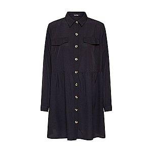 Boohoo Košeľové šaty čierna vyobraziť