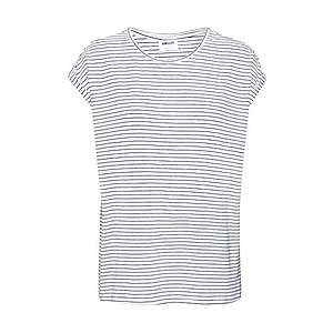 VERO MODA Tričko 'AVA PLAIN' čierna / biela vyobraziť