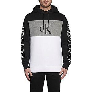 Calvin Klein Mikina biela / sivá melírovaná / čierna vyobraziť