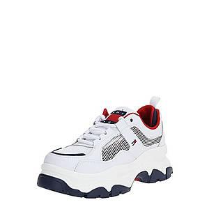Tommy Jeans Nízke tenisky červené / biela / tmavomodrá vyobraziť