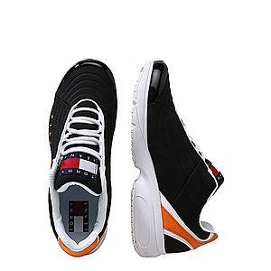 Tommy Jeans Nízke tenisky 'HERITAGE' čierna / biela / oranžová vyobraziť