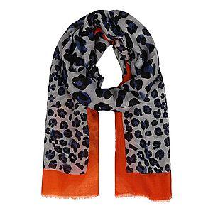 Zwillingsherz Šál ' Leopard Amanda' oranžová / biela / čierna vyobraziť