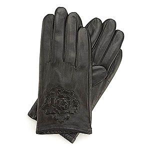 Elegantné čierna dámske rukavice. vyobraziť