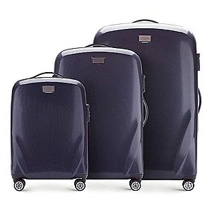 Sada moderných cestovných kufrov. vyobraziť