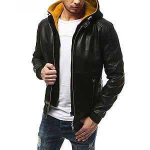 Čierna pánska koženka s kapucňou TX3175 vyobraziť